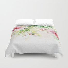 Cascading roses -Watercolor Duvet Cover