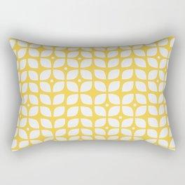 Mid century modern yellow geometric Rectangular Pillow