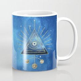 Magic Eye Blue Universe Coffee Mug