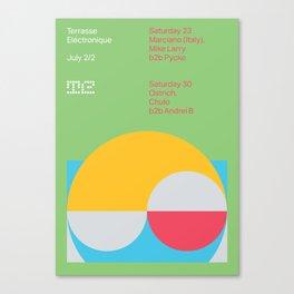 Terrasse Electronique - July 2/2 Canvas Print