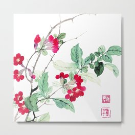 Famous works of ancient China  plants painting Metal Print