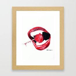 Sweet Deadly Bite Framed Art Print