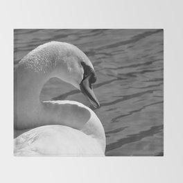 Sunning Swan by Teresa Thompson Throw Blanket