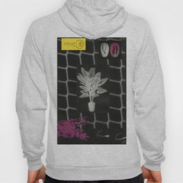 Strong Saints - Magic Dark collage with key, saints, net, shells, plants and grid Hoody