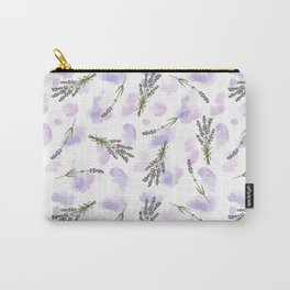 Watercolour Lavender - repeat floral pattern Carry-All Pouch