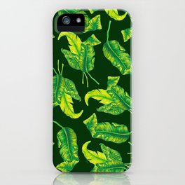 Tropicana Leaves iPhone Case