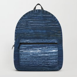 Metallic blue abstract watercolor background Backpack