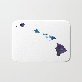 Hawaii State Galaxy Art Print Bath Mat
