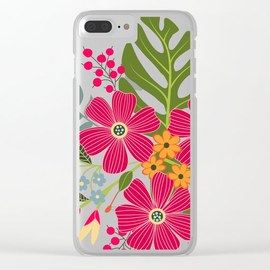 Bits of Summer Clear iPhone Case