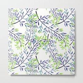 Delicate leaves . 2 Metal Print
