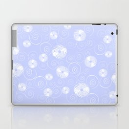 White Spirals Laptop & iPad Skin