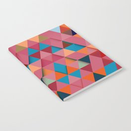 Colorfull abstract darker triangle pattern Notebook