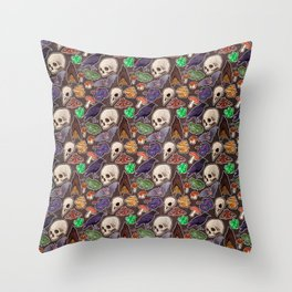Spooky pattern Throw Pillow