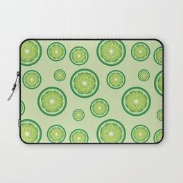 Lime Fruit Slices Green Food Pattern Laptop Sleeve