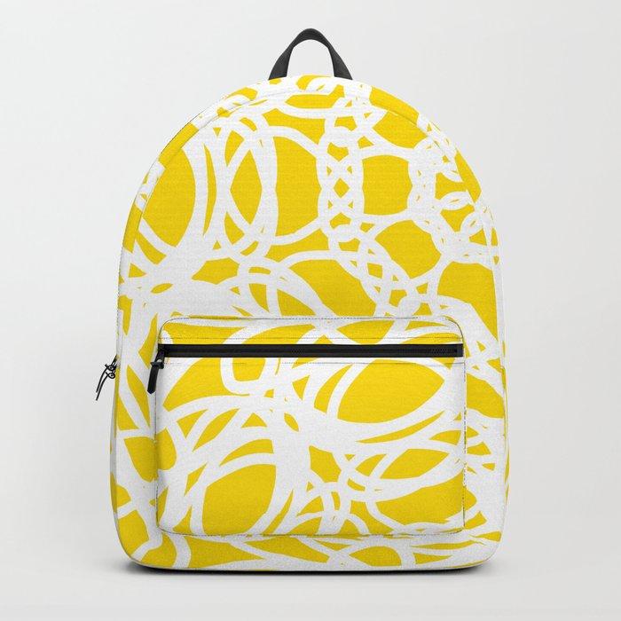 Mandala Yellow Pattern Backpack