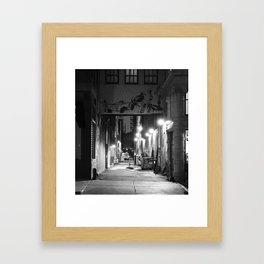Lights, Alley, Art Framed Art Print