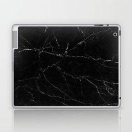 Black Marble Print Laptop & iPad Skin