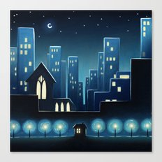 City Lights 1 Canvas Print