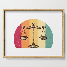 Scales Of Justice Lawyer Retro Gift Idea Serving Tray