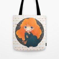 merida Tote Bags featuring Merida by Suni