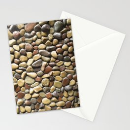 Wall pebble pattern Stationery Cards
