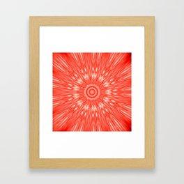 red Mandala Explosion Framed Art Print