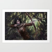 katniss Art Prints featuring Katniss by jasric