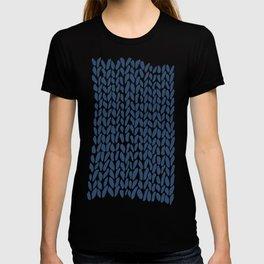 Hand Knit Zoom Navy T-shirt
