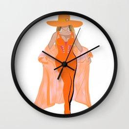 Beychella, homecoming, cochella, beyhive, Illustration, female figure, American singer, music Wall Clock