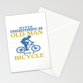 Bicycle Old Man Stationery Cards