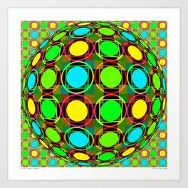 Circles & Squares Seranade Art Print