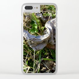 Nature Litter Clear iPhone Case