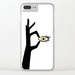 Yellow Eye Clear iPhone Case