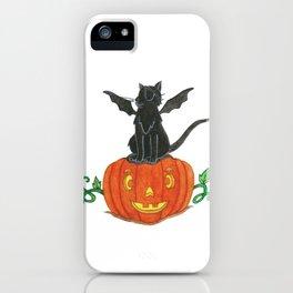 Pirate-Bat-Cat { + Pumpkin Pal Jack O Lantern . Halloween }   iPhone Case