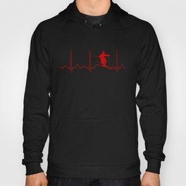 SKIING MAN HEARTBEAT Hoody