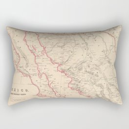 Vintage Map of Baja California (1857) Rectangular Pillow
