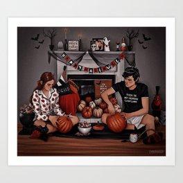 Jude and Cardan in the Mortal World Art Print