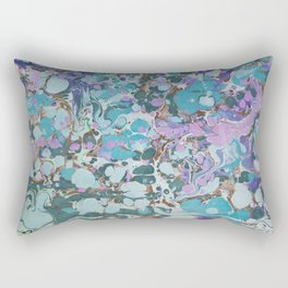 Aquabubble marbleized print Rectangular Pillow