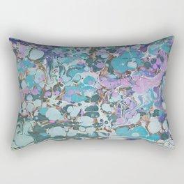 Aquabubble marbleized print Rectangular Pillow