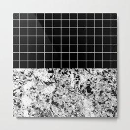Marble Grid Metal Print
