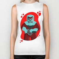 spaceman Biker Tanks featuring Spaceman by subpatch