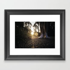 Louisiana Asphalt & White Socks Framed Art Print