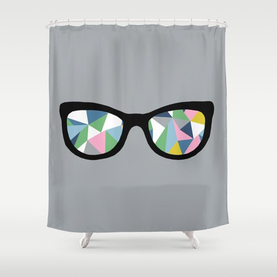 Abstract Eyes Shower Curtain