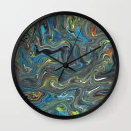 Abstract Oil Painting 18 Wall Clock
