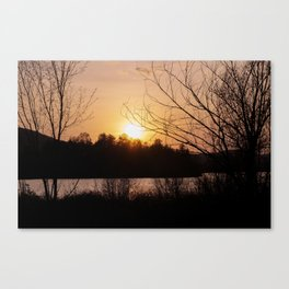 Sunset in Mont Tremblant Canvas Print