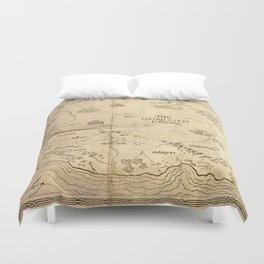 Map of Imirillia Duvet Cover