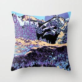 Purple Sierra Throw Pillow
