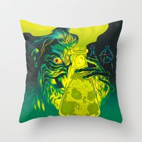 mad Throw Pillows featuring MAD SCIENCE! by BeastWreck