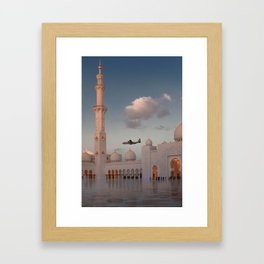 White Mosque in Abu Dhabi 2 Framed Art Print