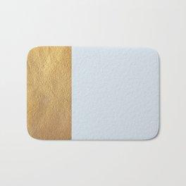 Color Blocked Gold & Periwinkle Bath Mat